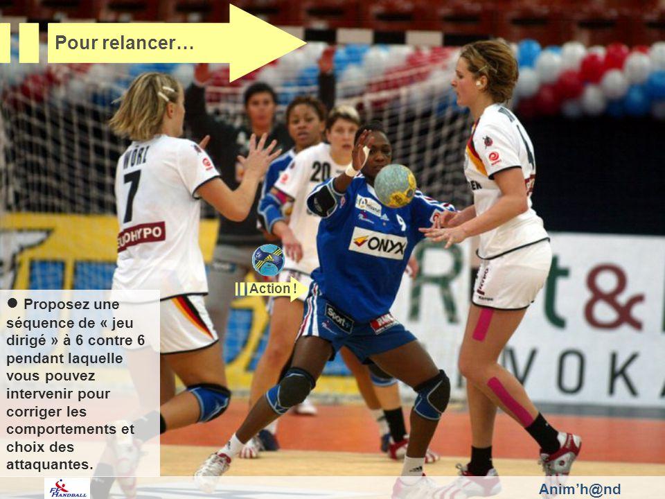 Animh@nd Proposez une séquence de « jeu dirigé » à 6 contre 6 pendant laquelle vous pouvez intervenir pour corriger les comportements et choix des att