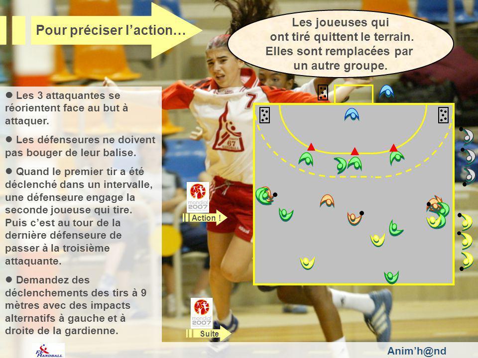 Animh@nd Pour intervenir… Après les différents échanges de balle, cest la joueuse face à la défenseure sans balle qui transmet à la gardienne.