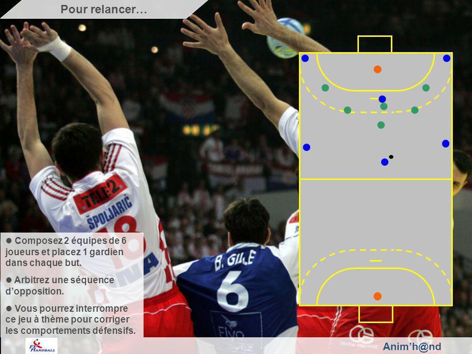 Animh@nd Composez 2 équipes de 6 joueurs et placez 1 gardien dans chaque but.
