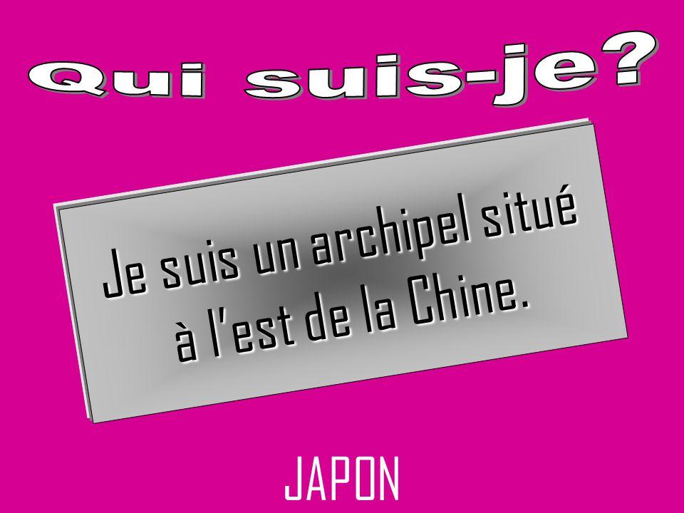 JAPON Je suis un archipel situé à lest de la Chine.