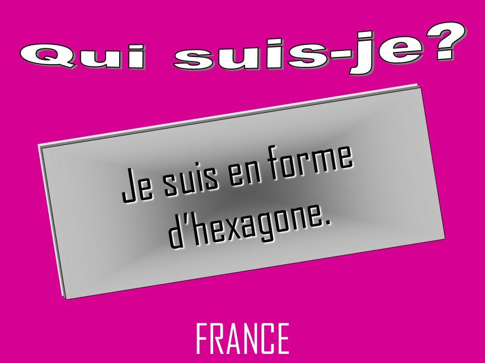 FRANCE Je suis en forme dhexagone.