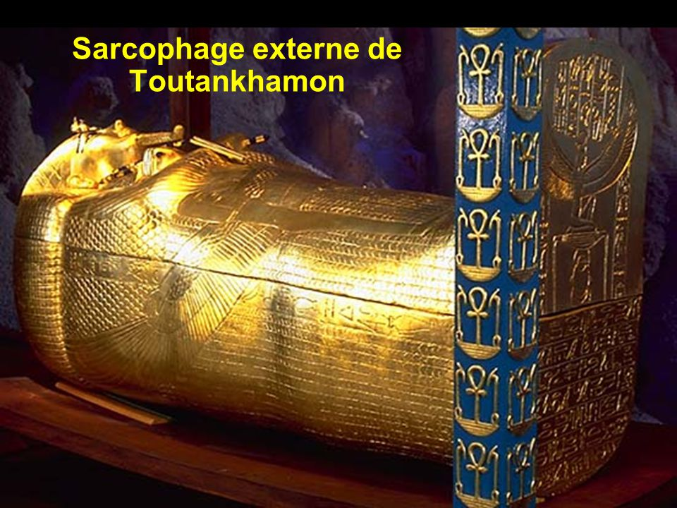 Détails du sarcophage externe