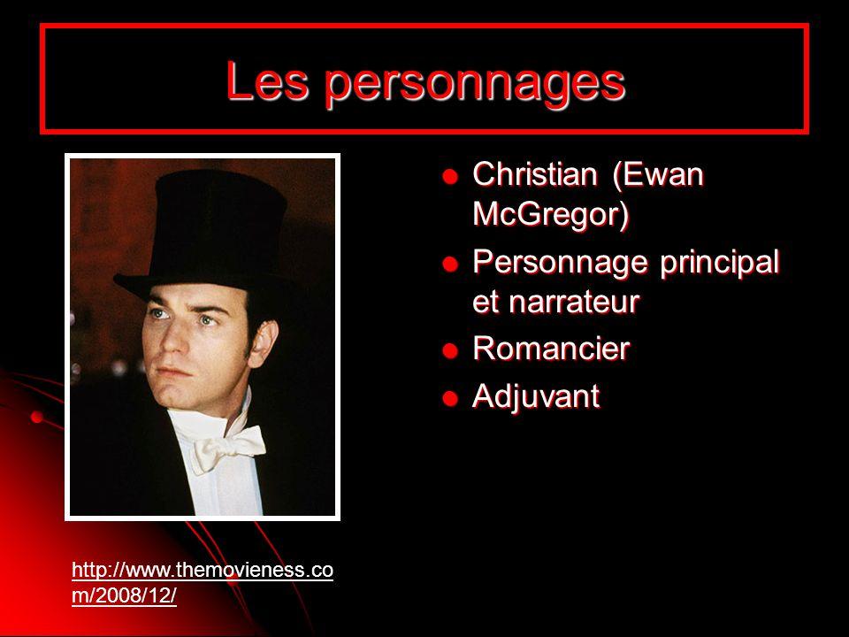 Les personnages Christian (Ewan McGregor) Christian (Ewan McGregor) Personnage principal et narrateur Personnage principal et narrateur Romancier Roma