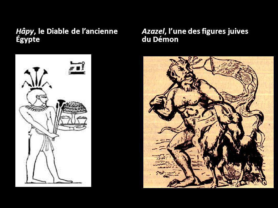 Anubis, porteur dattributs retrouvés, plus tard, chez le démon chrétien comme le caractère mi- homme, mi-bête et la queue.
