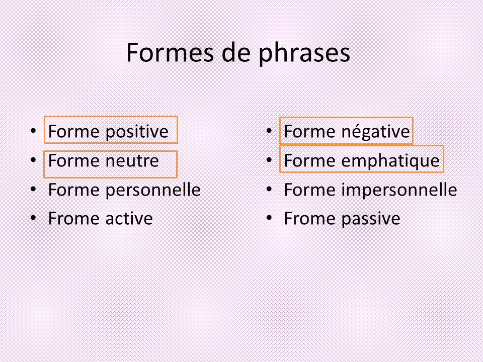 Phrase Neutre ҈La phrase neutre ne met pas laccent sur un groupe de mots.
