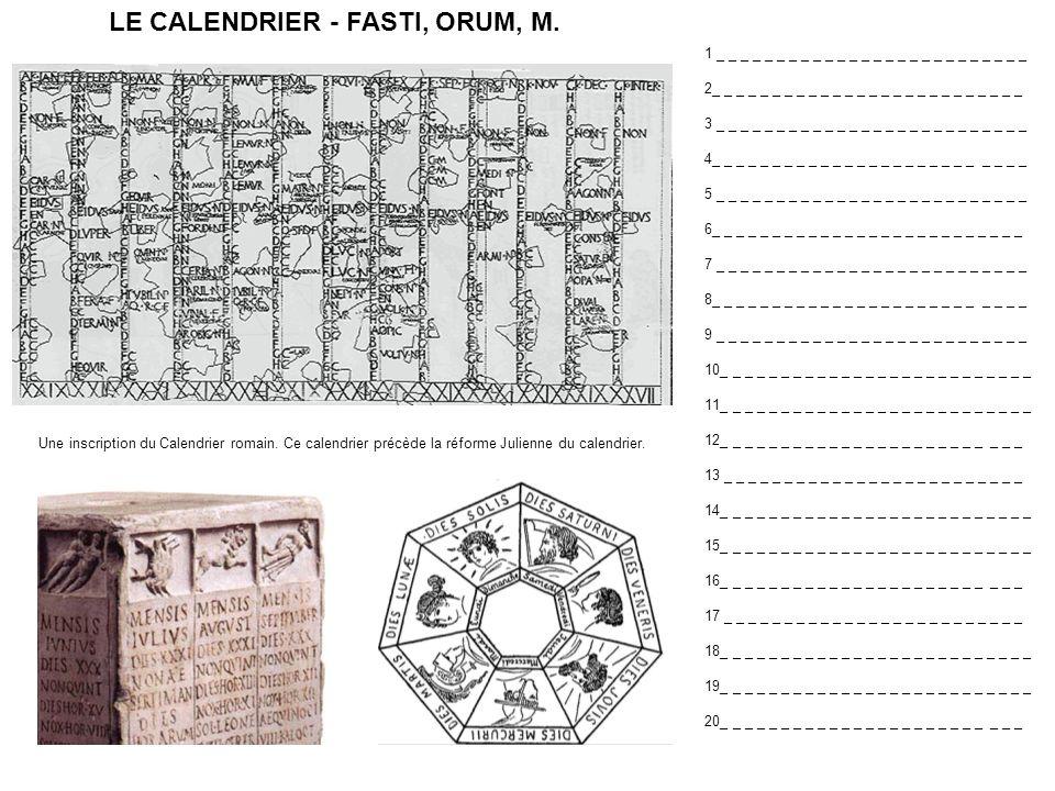 Automnus, i, m.Aestas, atis, f. Clepsydra Dies, ei, f.