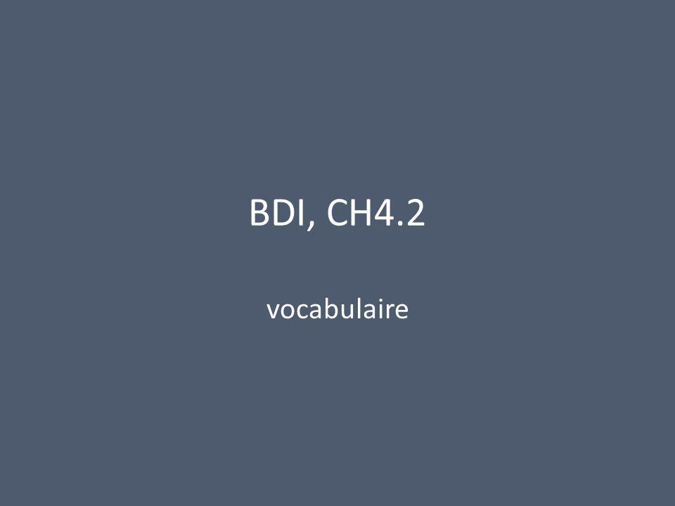 BDI, CH4.2 vocabulaire