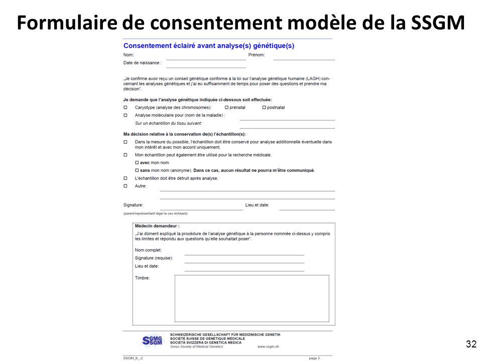 Formulaire de consentement modèle de la SSGM RNT - Prof. Junod - Leçon 8 (11.4.2011) 32