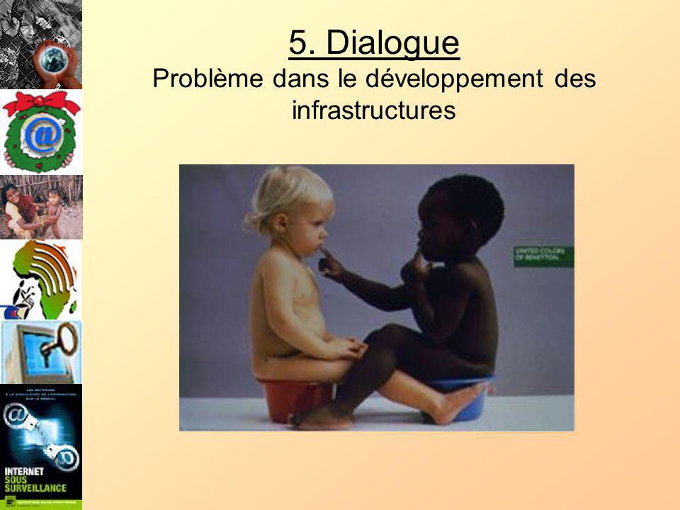 5. Dialogue Problème dans le développement des infrastructures