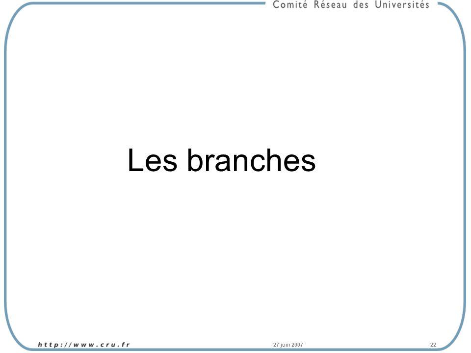 27 juin 200722 Les branches