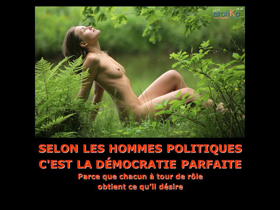SELON LES HOMMES POLITIQUES C EST LA DÉMOCRATIE PARFAITE Parce que chacun à tour de rôle obtient ce quil désire