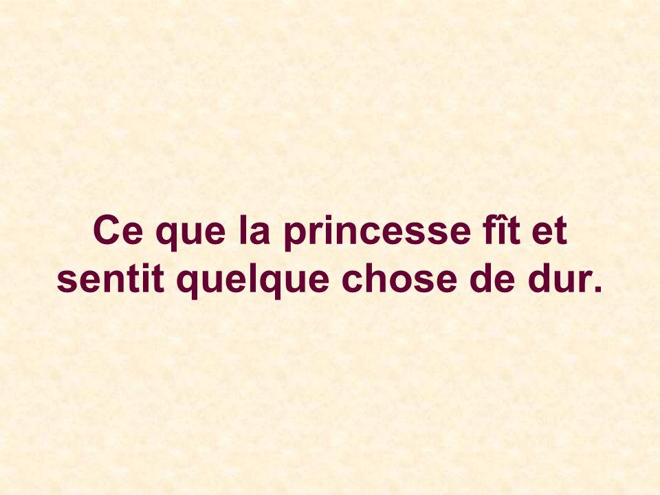Ce que la princesse fît et sentit quelque chose de dur.