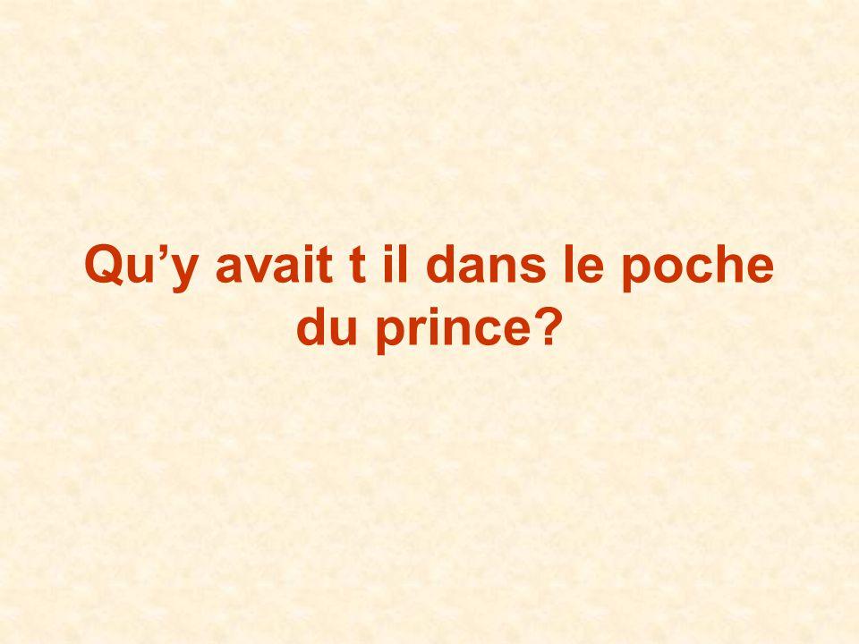 Quy avait t il dans le poche du prince