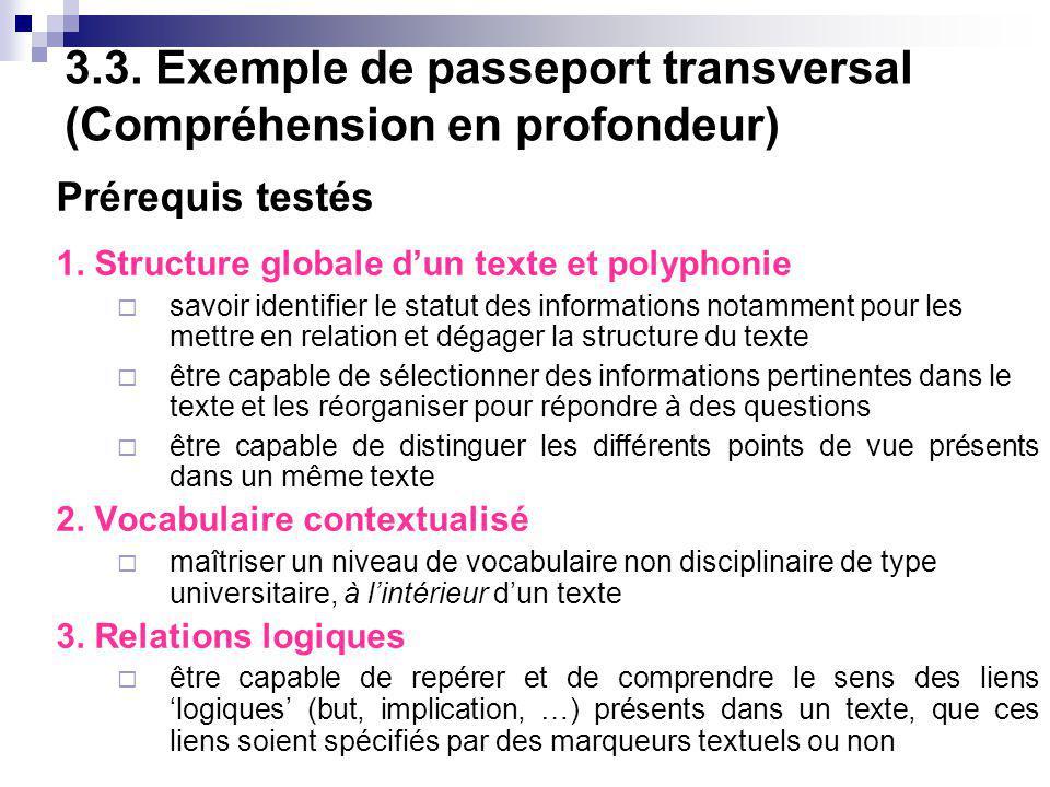 1.Structure globale du texte et polyphonie 1.