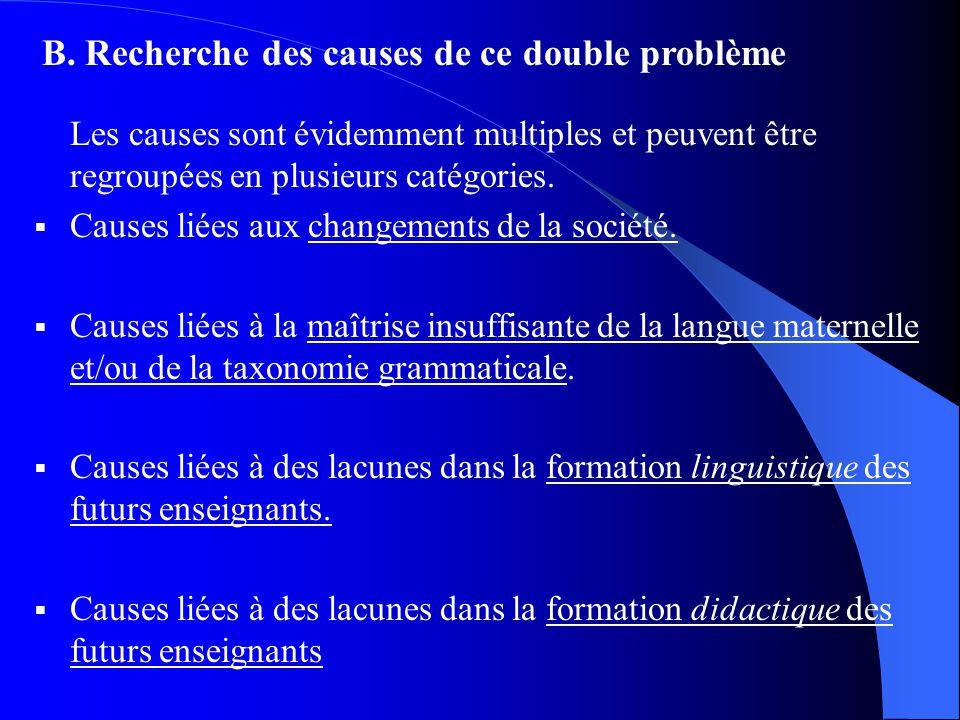 Les causes sont évidemment multiples et peuvent être regroupées en plusieurs catégories.