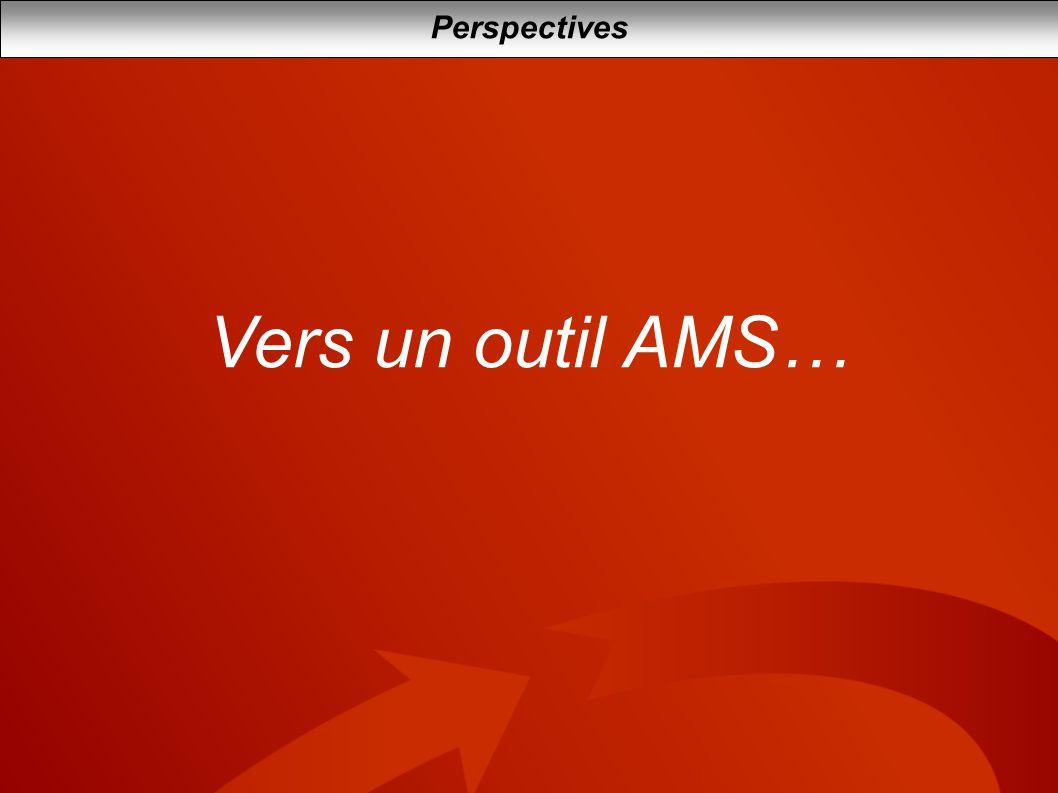 Perspectives Vers un outil AMS…