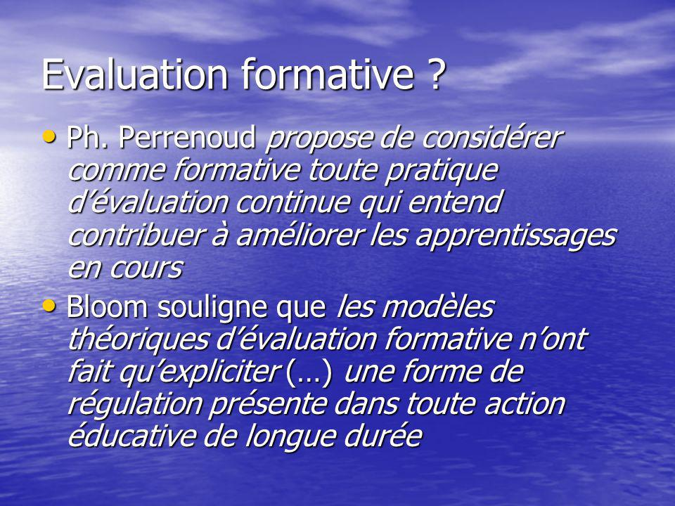 Evaluation formative . Ph.