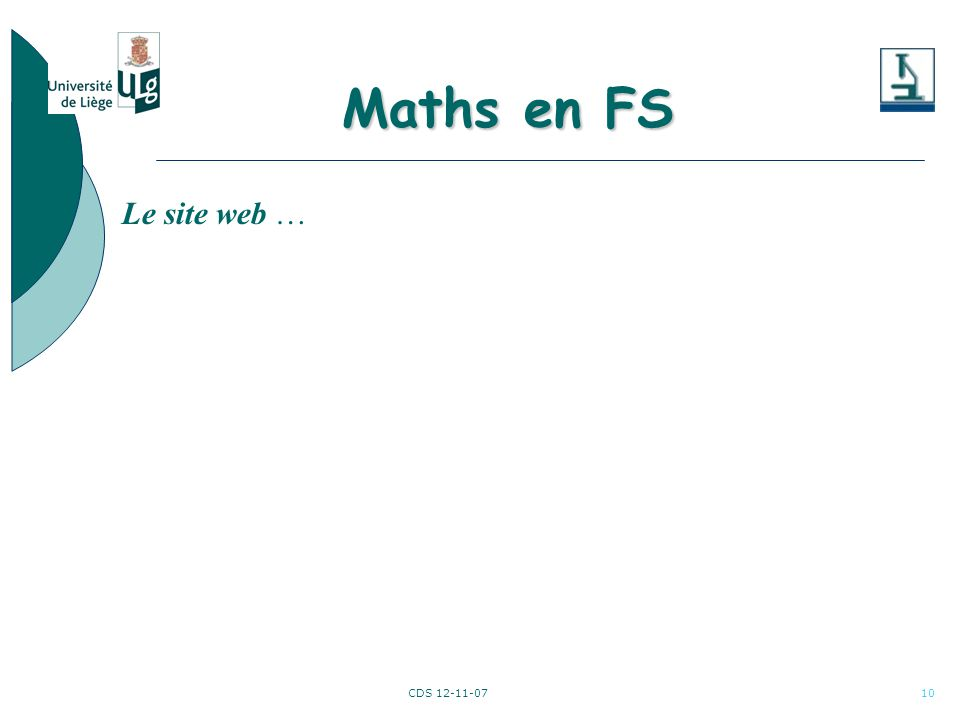 CDS 12-11-0710 Le site web … Maths en FS