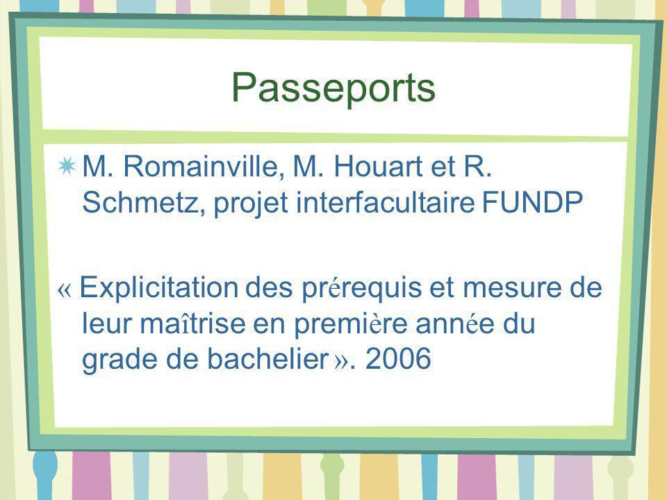 Passeports M. Romainville, M. Houart et R.