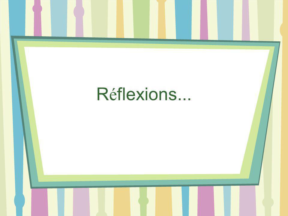 R é flexions...
