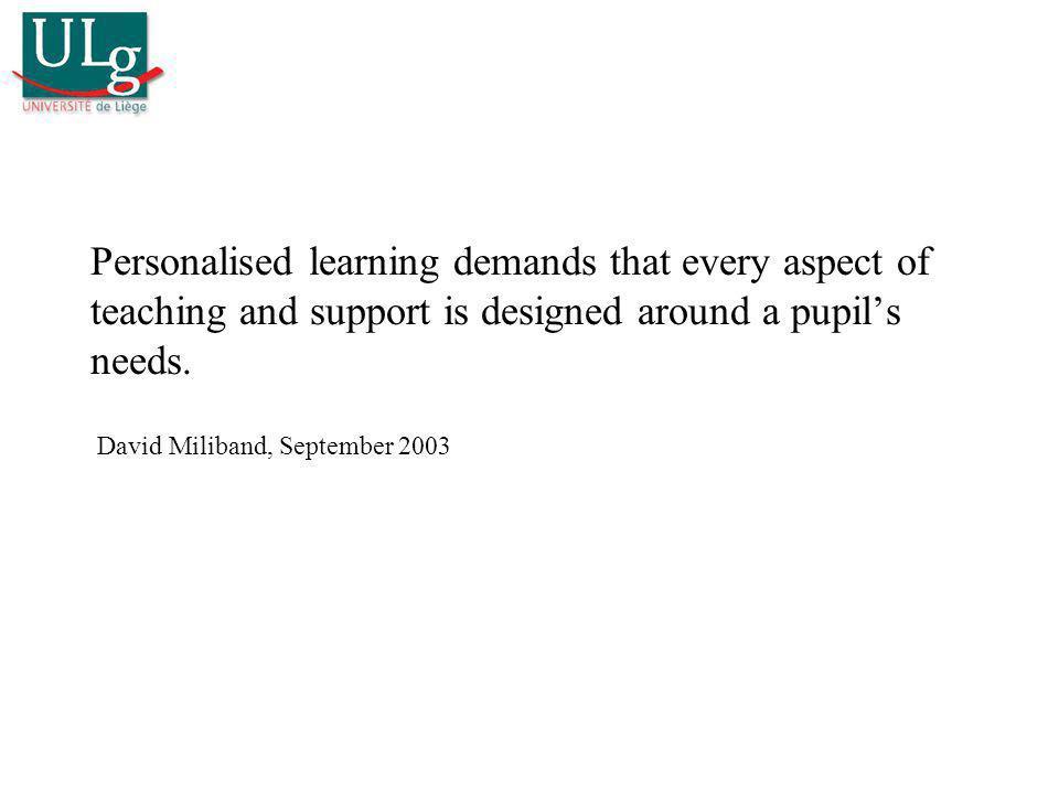 Ajuster lenseignement aux caractéristiques individuelles… Considération pour les personnes Réussite de tous « Bon sens » pédagogique Exigence dégalité MAIS fortes pressions sur le prof