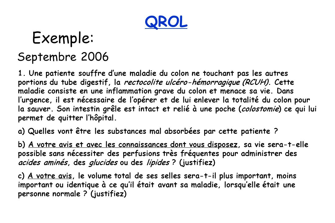 QROL Exemple: Septembre 2006 1.