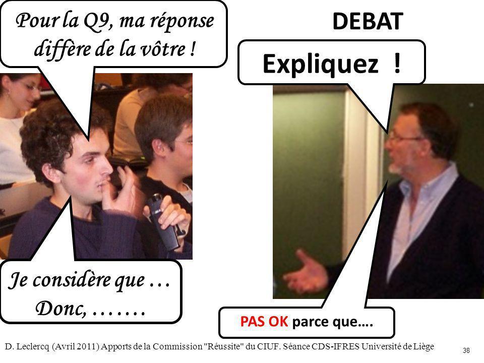 D. Leclercq (Avril 2011) Apports de la Commission