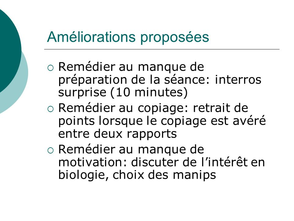 Exemple 2: TP de chimie inorganique, Public: 3° BAC Chimie