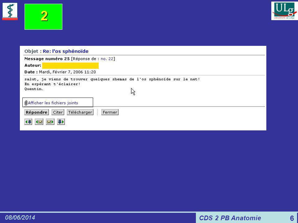 CDS 2 PB Anatomie 08/06/2014 6 2