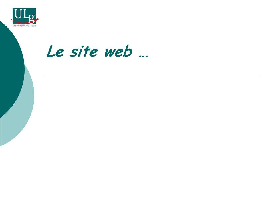 Le site web …