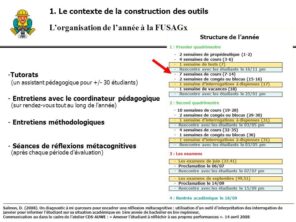 -Tutorats - Entretiens avec le coordinateur pédagogique - Entretiens méthodologiques - Séances de réflexions métacognitives (après chaque période déva