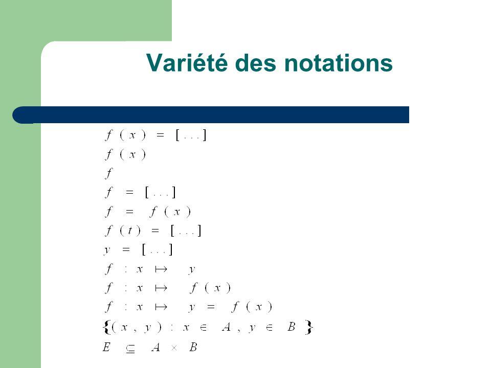 « Pluridimensionnalité conceptuelle » Plusieurs facettes : - verbale - numérique (tables) - graphique - analytique - (ensembliste)