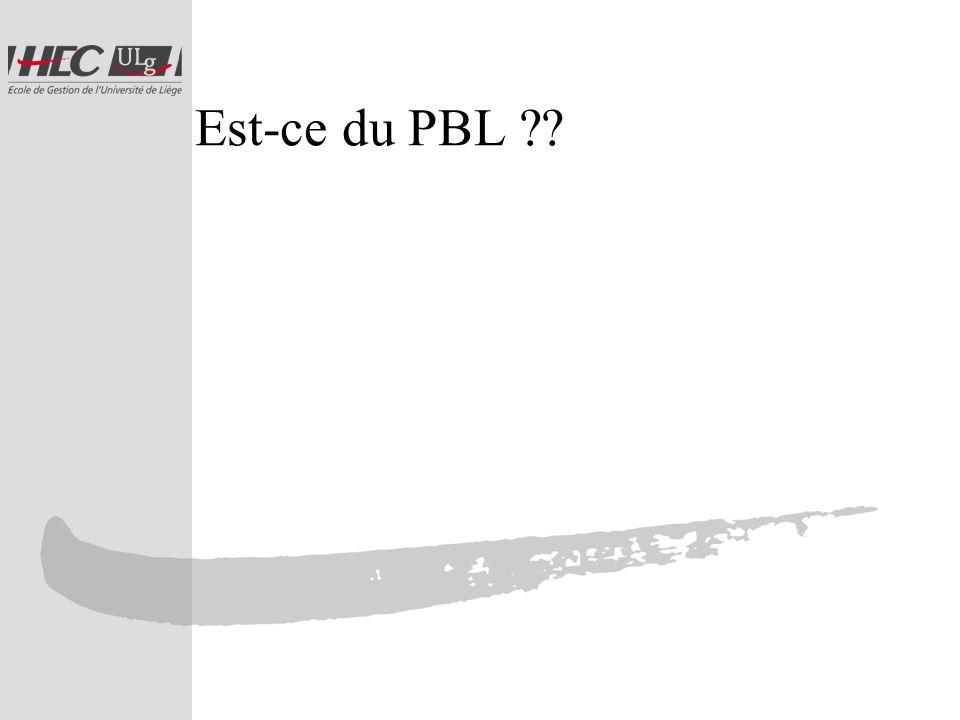 Est-ce du PBL