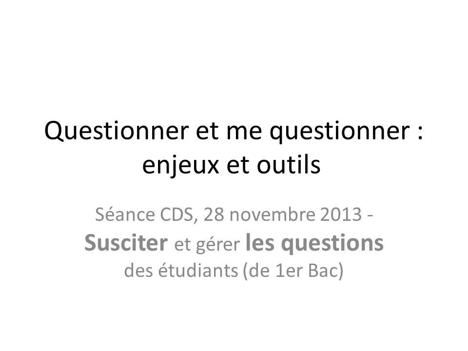 Explications Meilleure connaissance, meilleure questions – Exclu vu la comparaison avec le groupe 1 Effet isolé du schéma de classification – Exclu car la classe traditionnelle voit seulement une augmentation mineure suite à cette intervention The fact that students had experienced an active learning environment and had been exposed to many different assignments in which they were asked to formulate questions and to identify good questions.