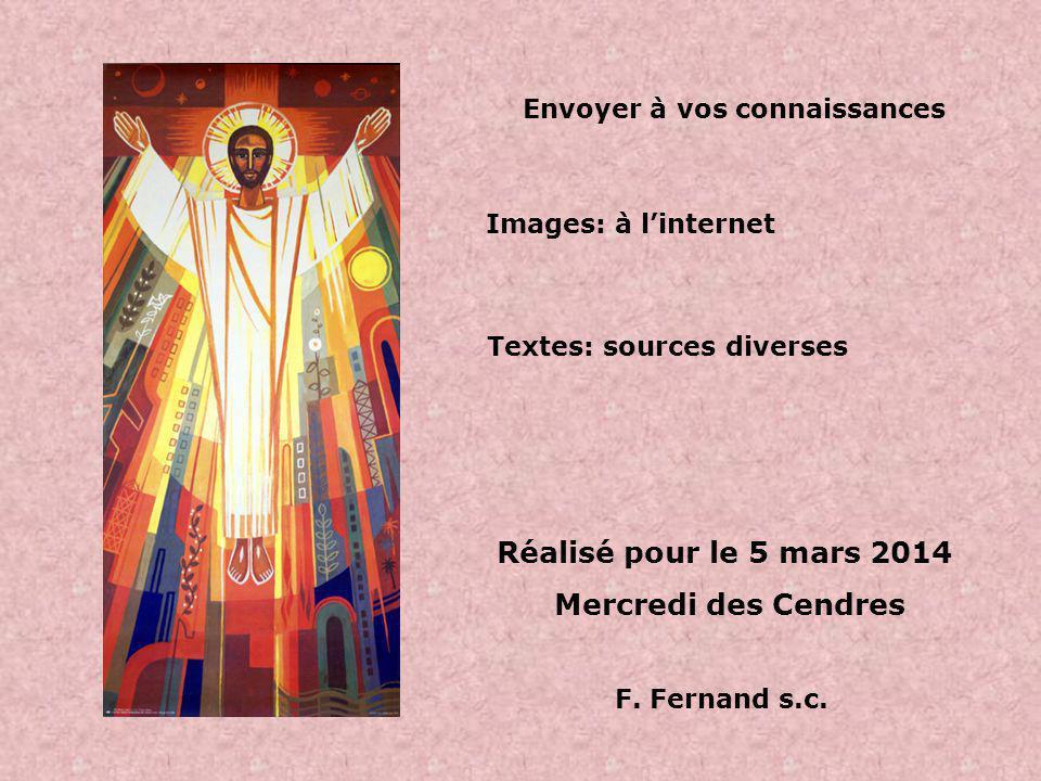 Bonne montée vers Pâques ! Carême 2014 Chemin vers la Résurrection
