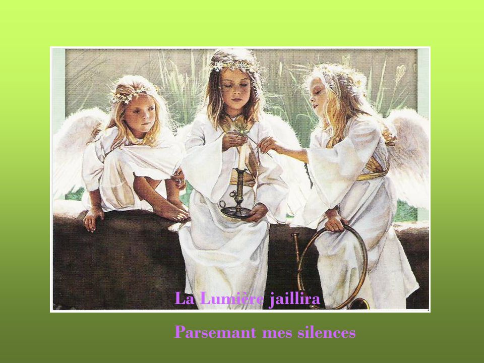 Apprendra ses chansons : « LAmour en héritage » La Lumière jaillira !