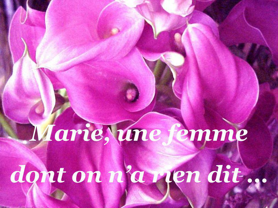 Marie, une femme dont on na rien dit …