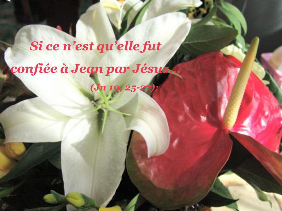 Si ce nest quelle se tenait tout simplement là au pied de la croix… (Jn 19,25);