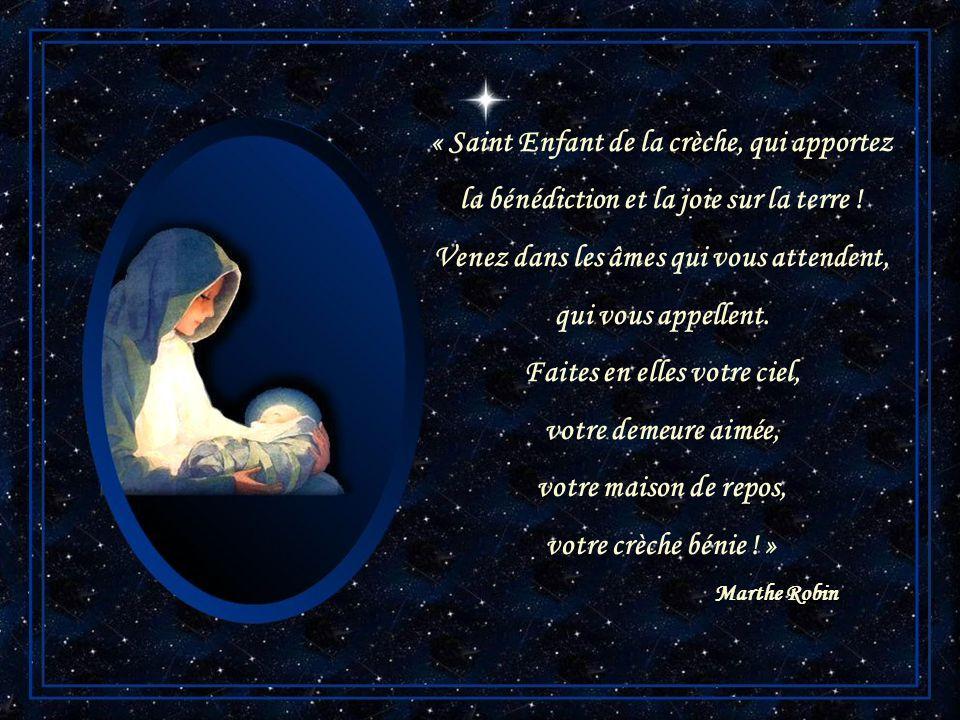 Noël arrive. Arrête-toi. Prends le temps de rêver près de lEnfant-Dieu. Il te remettra à Marie sa Mère. Il te consacrera enfant de son Père. Père Géra
