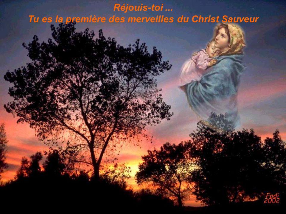 Réjouis-toi... Tu es la première des merveilles du Christ Sauveur