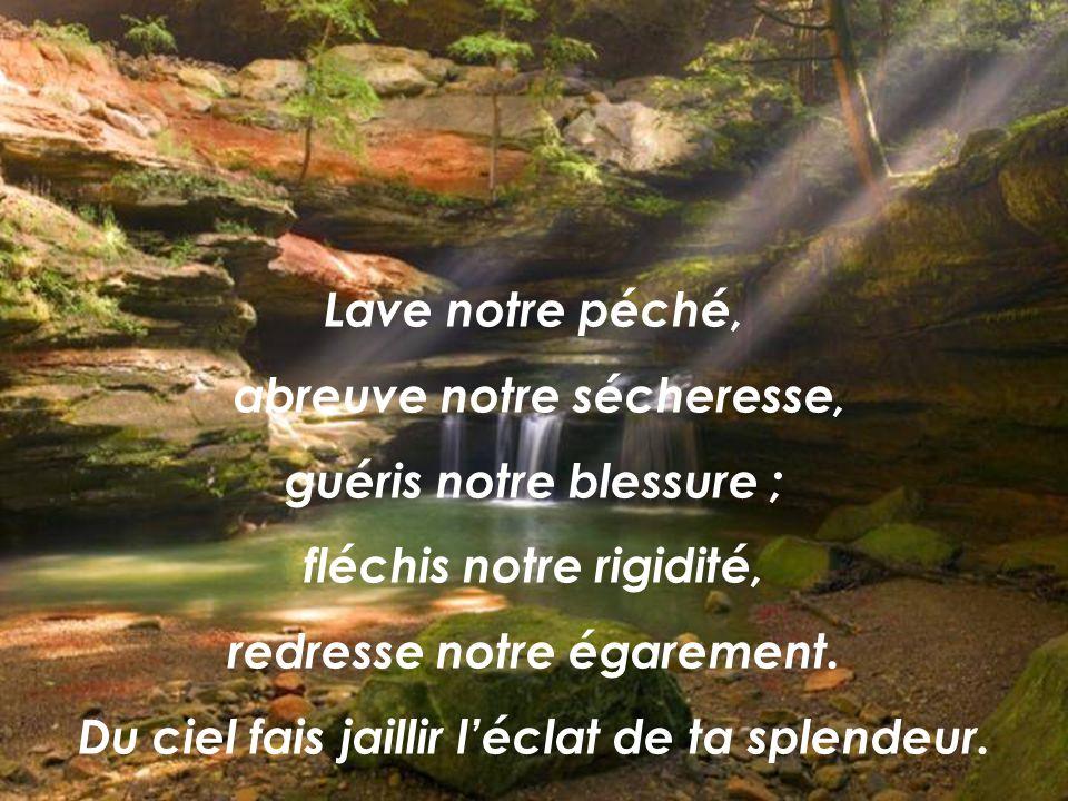 Lumière bienfaisante, pénètre lintimité de nos cœurs, car nous te sommes fidèles ; sans ta présence, dans lhomme il ny a rien, rien qui soit pur. Du c