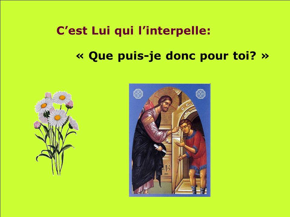 .. Quand Jésus laperçoit Et laveugle lappelle.