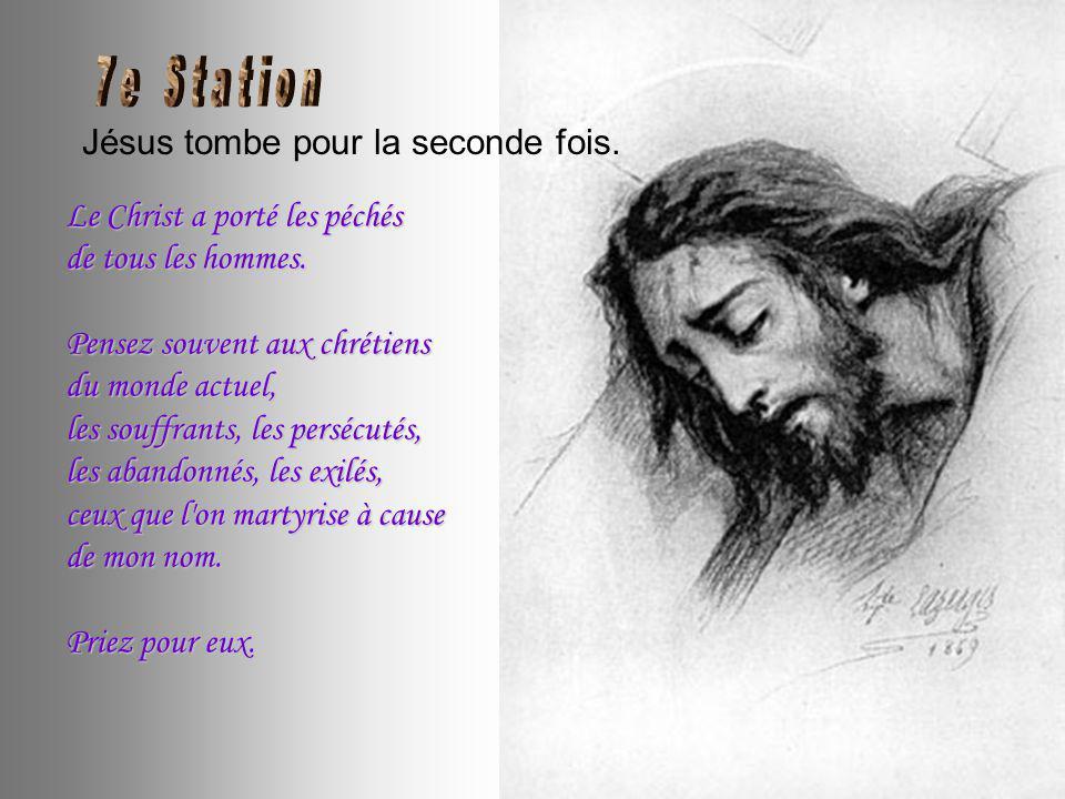 Véronique essuie la Face de Jésus. Le doux linge de Véronique.