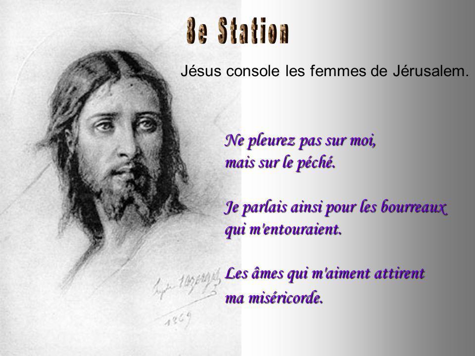 Jésus tombe pour la seconde fois. Le Christ a porté les péchés de tous les hommes.