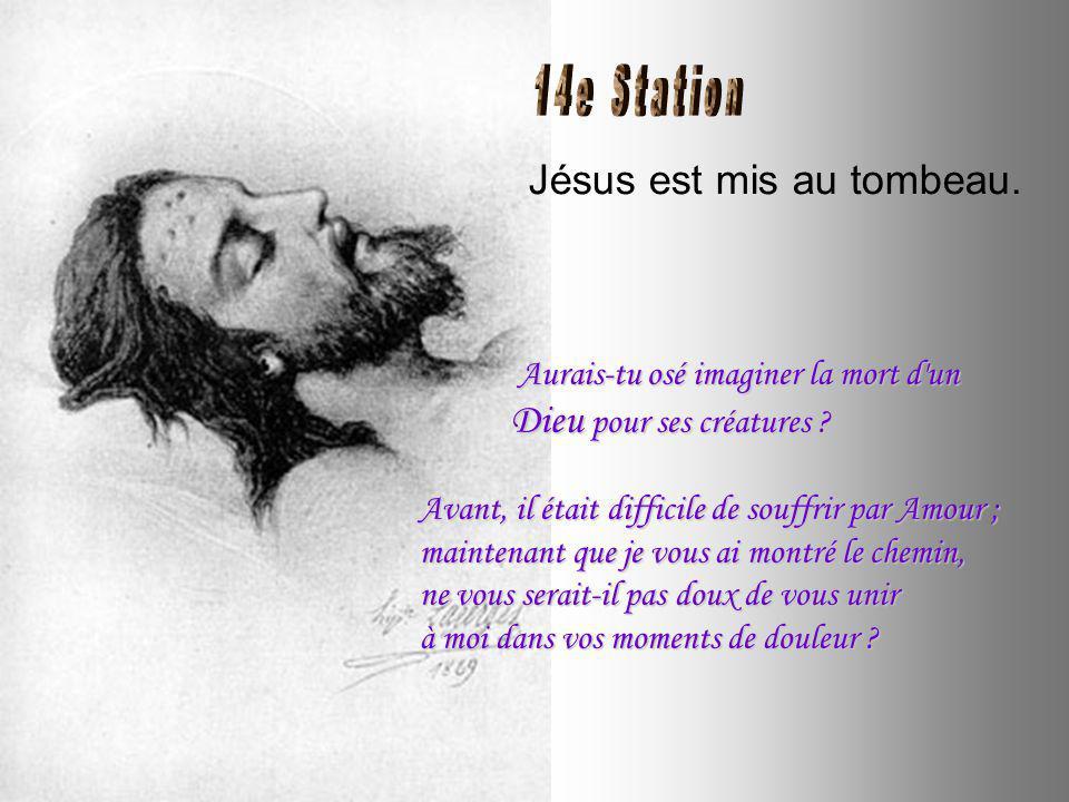 Jésus est descendu de la croix. Si vous aviez vu mon Corps, dans les bras de ma Mère .