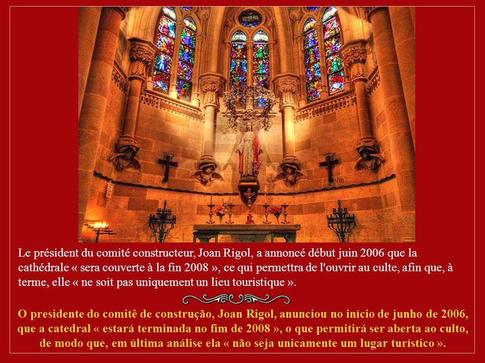 La Sagrada Familia est d'ores et déjà inscrite sur la liste du patrimoine mondial de l'Unesco. A Sagrada Familia está agora na lista do patrimônio mun