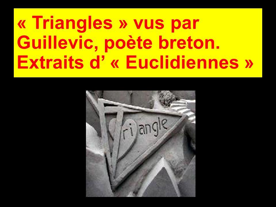 Triangle Isocèle J ai réussi à mettre Un peu d ordre en moi-même J ai tendance à me plaire.