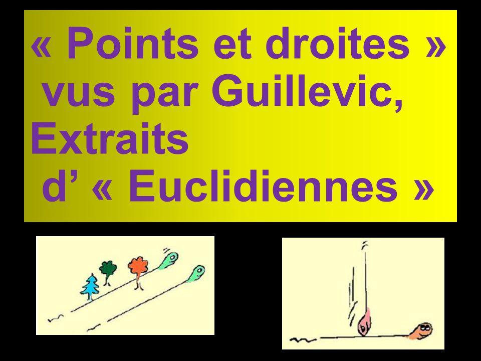 « Points et droites » vus par Guillevic, Extraits d « Euclidiennes »