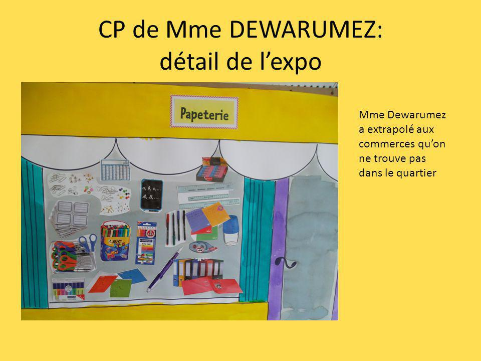 CP de Mme DEWARUMEZ: détail de lexpo Mme Dewarumez a extrapolé aux commerces quon ne trouve pas dans le quartier