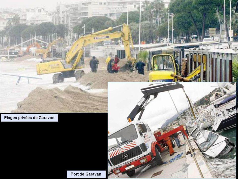 Plages privées de Garavan Port de Garavan